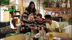Mackenzie Hargreaves, Yashvi Rebecchi, Ned Willis, Jay Rebecchi in Neighbours Episode 8523