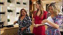 Terese Willis, Chloe Brennan, Amy Greenwood in Neighbours Episode 8524