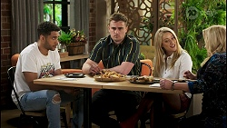 Levi Canning, Kyle Canning, Roxy Willis, Sheila Canning in Neighbours Episode 8525