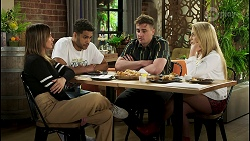 Bea Nilsson, Levi Canning, Kyle Canning, Roxy Willis in Neighbours Episode 8525