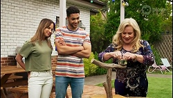 Bea Nilsson, Levi Canning, Sheila Canning in Neighbours Episode 8526