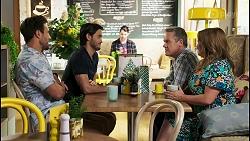 Aaron Brennan, David Tanaka, Paul Robinson, Terese Willis in Neighbours Episode 8527