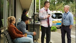 Roxy Willis, Levi Canning, Kyle Canning, Clive Gibbons in Neighbours Episode 8527