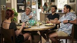 Nicolette Stone, Paul Robinson, Terese Willis, David Tanaka, Aaron Brennan in Neighbours Episode 8527