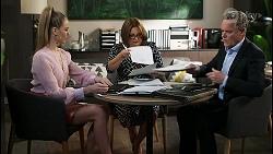 Chloe Brennan, Terese Willis, Paul Robinson in Neighbours Episode 8528