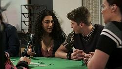 Tally Rennick, Hendrix Greyson in Neighbours Episode 8528