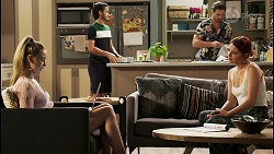 Chloe Brennan, David Tanaka, Aaron Brennan, Nicolette Stone in Neighbours Episode 8530