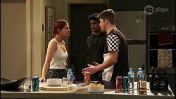 Nicolette Stone, Jay Rebecchi, Hendrix Greyson in Neighbours Episode 8530
