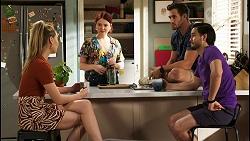 Chloe Brennan, Nicolette Stone, Aaron Brennan, David Tanaka in Neighbours Episode 8530