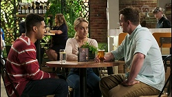 Levi Canning, Paul Robinson, Terese Willis, Roxy Willis, Kyle Canning in Neighbours Episode 8532
