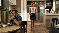 Aaron Brennan, Nicolette Stone, David Tanaka in Neighbours Episode 8535