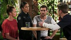 Bea Nilsson, Yashvi Rebecchi, Ned Willis, Hendrix Greyson in Neighbours Episode 8535