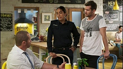 Toadie Rebecchi, Yashvi Rebecchi, Ned Willis in Neighbours Episode 8535