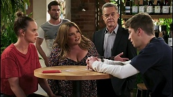 Bea Nilsson, Ned Willis, Terese Willis, Paul Robinson, Hendrix Greyson in Neighbours Episode 8535