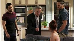 David Tanaka, Paul Robinson, Nicolette Stone, Aaron Brennan in Neighbours Episode 8535