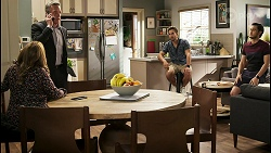 Terese Willis, Paul Robinson, Aaron Brennan, David Tanaka in Neighbours Episode 8535