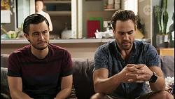 David Tanaka, Nicolette Stone, Aaron Brennan in Neighbours Episode 8535