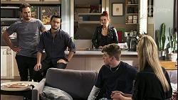 Aaron Brennan, David Tanaka, Nicolette Stone, Hendrix Greyson, Chloe Brennan in Neighbours Episode 8536