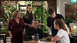 Terese Willis, Chloe Brennan, Paul Robinson, Hendrix Greyson, Harlow Robinson in Neighbours Episode 8536