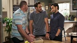 Toadie Rebecchi, Aaron Brennan, David Tanaka in Neighbours Episode 8536