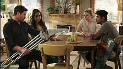 Shane Rebecchi, Dipi Rebecchi, Mackenzie Hargreaves, Jay Rebecchi in Neighbours Episode 8538