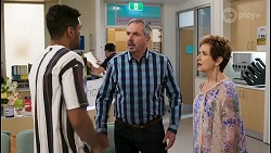 Levi Canning, Karl Kennedy, Susan Kennedy in Neighbours Episode 8542