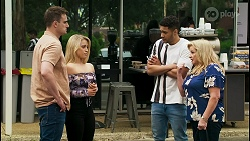 Kyle Canning, Roxy Willis, Levi Canning, Sheila Canning in Neighbours Episode 8542