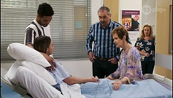 Levi Canning, Bea Nilsson, Karl Kennedy, Susan Kennedy, Sheila Canning in Neighbours Episode 8542