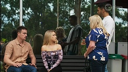 Kyle Canning, Roxy Willis, Sheila Canning, Levi Canning in Neighbours Episode 8542