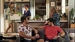 Chloe Brennan, Aaron Brennan, Nicolette Stone, David Tanaka, Jane Harris in Neighbours Episode 8542