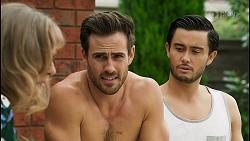 Jane Harris, Aaron Brennan, David Tanaka in Neighbours Episode 8543