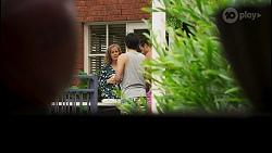 Jane Harris, David Tanaka, Aaron Brennan in Neighbours Episode 8543