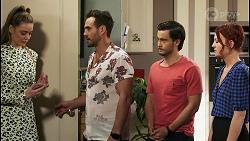 Chloe Brennan, Aaron Brennan, David Tanaka, Nicolette Stone in Neighbours Episode 8543