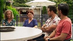 Jane Harris, Nicolette Stone, Aaron Brennan, David Tanaka in Neighbours Episode 8543