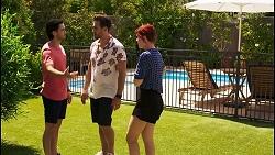 David Tanaka, Aaron Brennan, Nicolette Stone in Neighbours Episode 8544