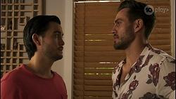 David Tanaka, Aaron Brennan in Neighbours Episode 8544