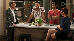 Paul Robinson, Aaron Brennan, David Tanaka, Nicolette Stone in Neighbours Episode 8544