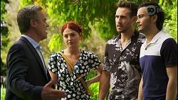 Paul Robinson, Nicolette Stone, Aaron Brennan, David Tanaka in Neighbours Episode 8544