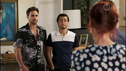 Aaron Brennan, David Tanaka, Nicolette Stone, Paul Robinson in Neighbours Episode 8545