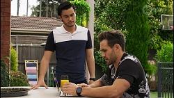 David Tanaka, Aaron Brennan in Neighbours Episode 8545