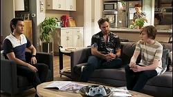 David Tanaka, Aaron Brennan, Nicolette Stone, Emmett Donaldson in Neighbours Episode 8545