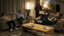 Emmett Donaldson, Paul Robinson, Terese Willis, David Tanaka, Aaron Brennan in Neighbours Episode 8545