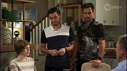 Emmett Donaldson, David Tanaka, Aaron Brennan, Paul Robinson in Neighbours Episode 8546
