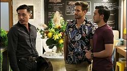 John Wong, Aaron Brennan, David Tanaka in Neighbours Episode 8546