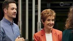 Curtis Perkins, Susan Kennedy, Jane Harris in Neighbours Episode 8546