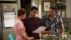 Nicolette Stone, David Tanaka, Aaron Brennan in Neighbours Episode 8546
