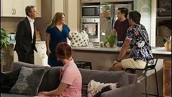 Paul Robinson, Terese Willis, Nicolette Stone, David Tanaka, Aaron Brennan in Neighbours Episode 8546