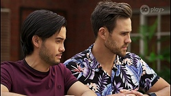 David Tanaka, Aaron Brennan in Neighbours Episode 8546