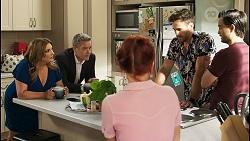 Terese Willis, Paul Robinson, Nicolette Stone, Aaron Brennan, David Tanaka in Neighbours Episode 8546