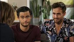 Brent Colefax, David Tanaka, Aaron Brennan in Neighbours Episode 8546